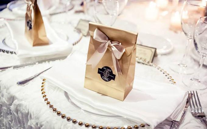 Wedding Guest Favor gold bag