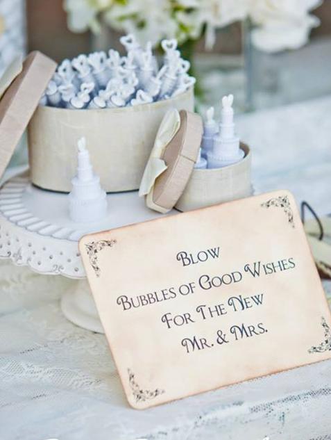 bubble μπουκαλάκια για τους καλεσμένους του γάμου