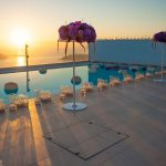 A glam Lebanese wedding in Santorini