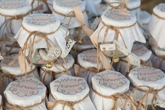 wedding guest favor jars