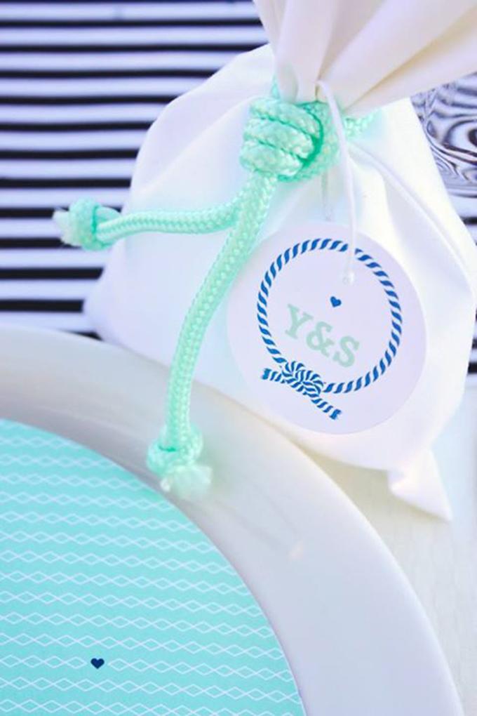 nautical mint wedding guest favor