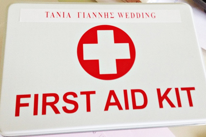 first aid kit for your wedding guests