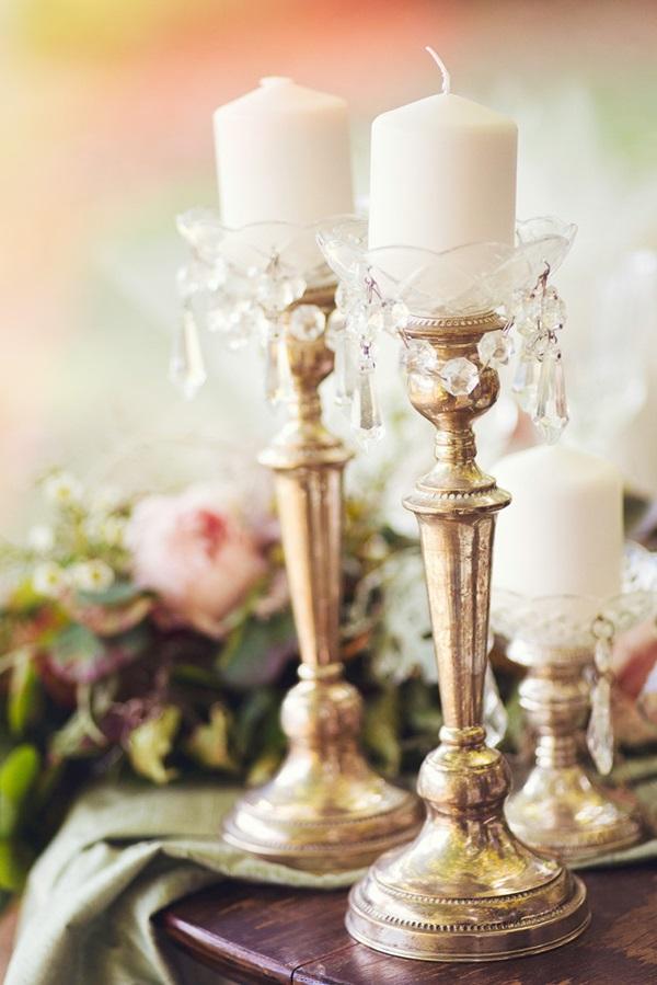 vintage κηροπήγια γάμου