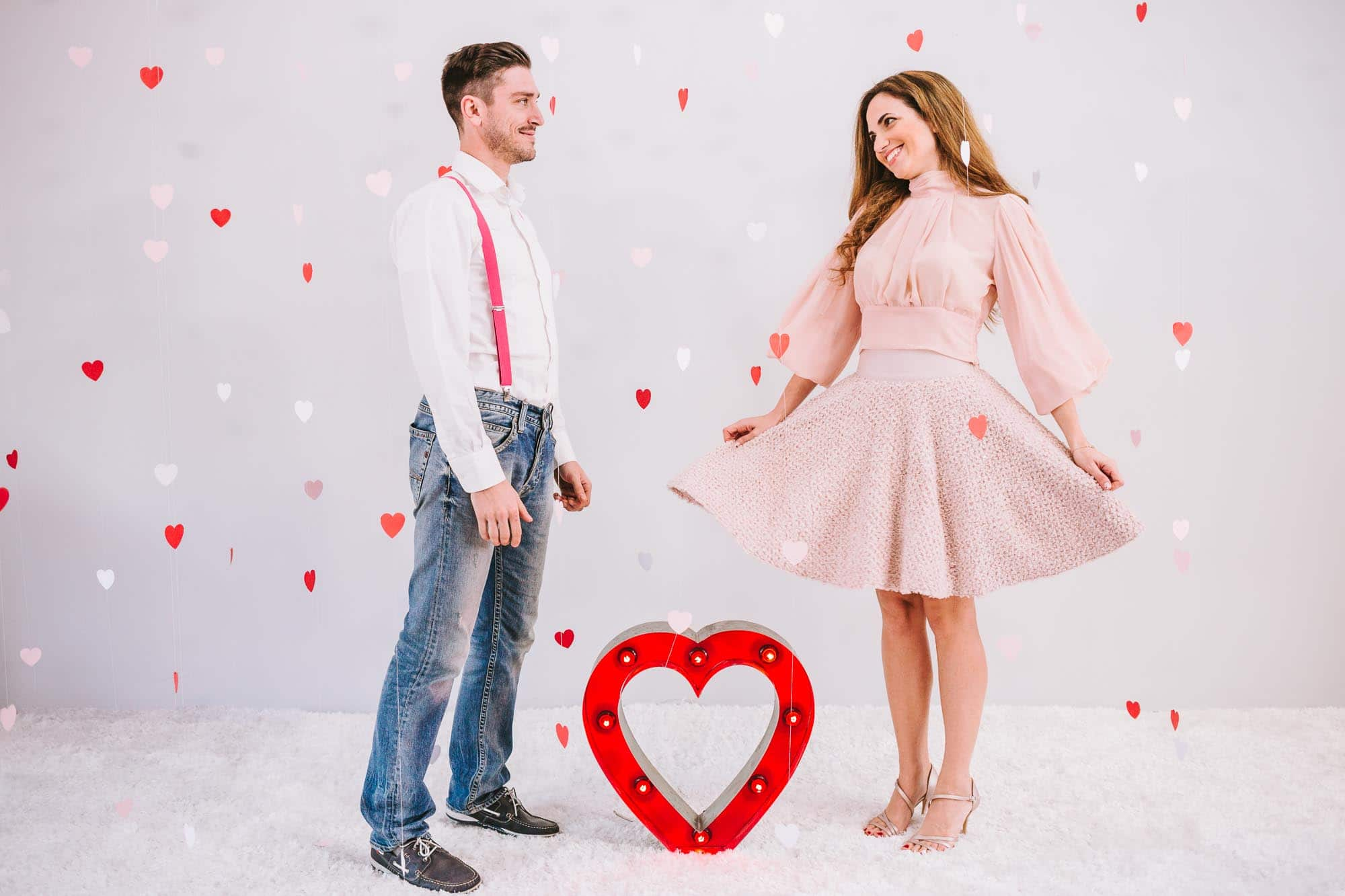 A Hollywood Valentine's photo shoot