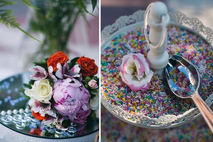Χρωματιστό ρύζι για το γάμο
