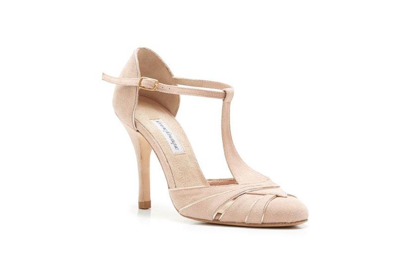 ac9b01b12c2 Μπεζ νυφικές γόβες με χρυσές λεπτομέρειες Femme Fanatique. 0   I like  thisUnlike0  . Νυφικά χειροποίητα παπούτσια: Femme Fantique