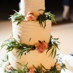 Floral τούρτα γάμου