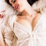 Bridal boudoir session with bridal lingerie