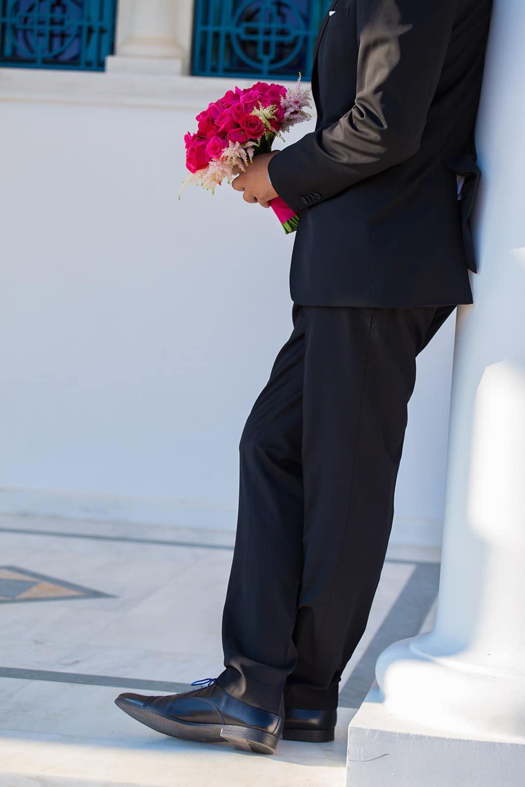 Fuschia detailed wedding