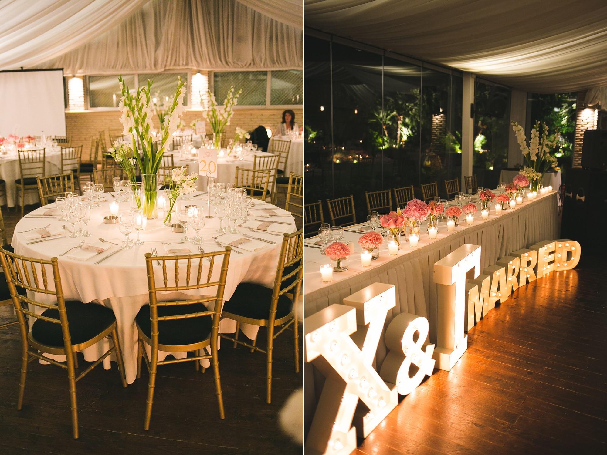 A romantic floral wedding