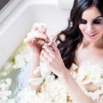 Bridal boudoir φωτογράφιση με μαύρα νυφικά εσώρουχα