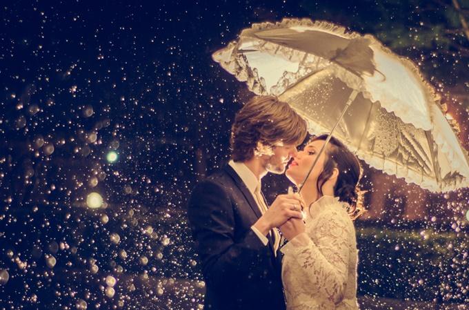 γάμος στη βροχή