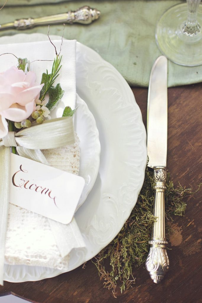 linen and silverware rentals white lilac
