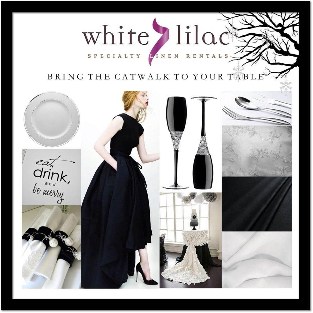 tableware και αξεσουαρ γάμου white lilac