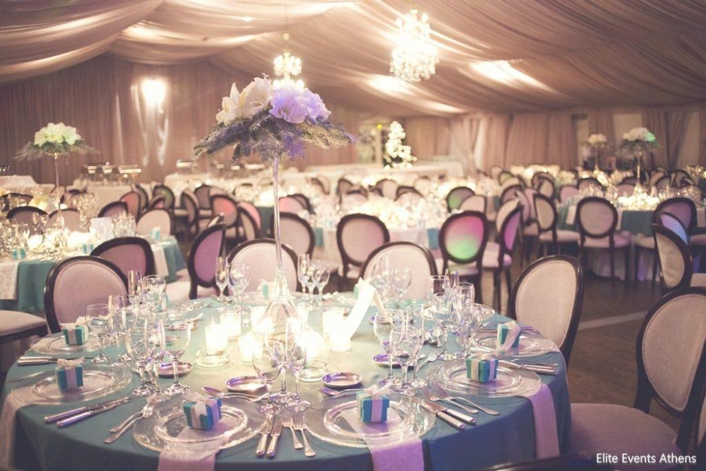 στολισμός δεξίωσης και catering γάμου white lilac