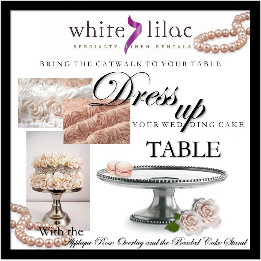 wedding cake silver stands