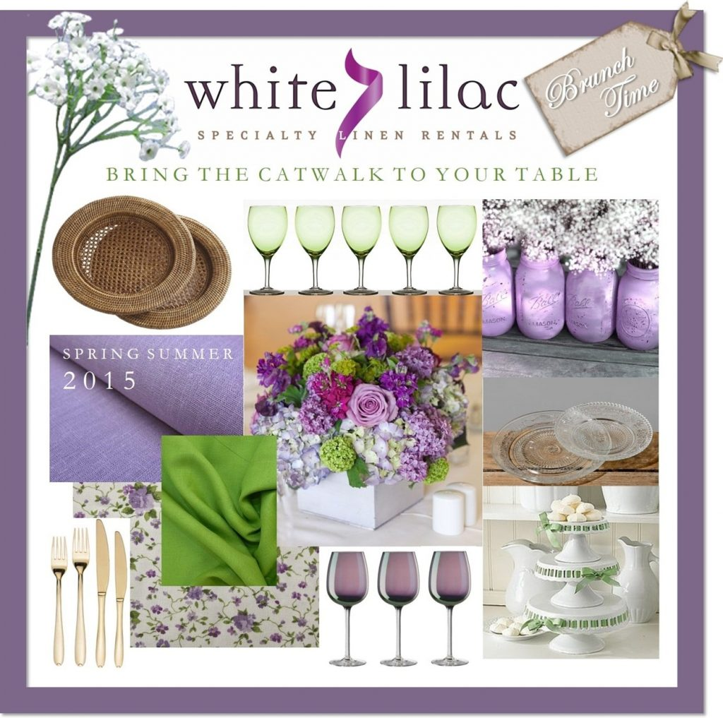 glassware and silverware rentals white lilac