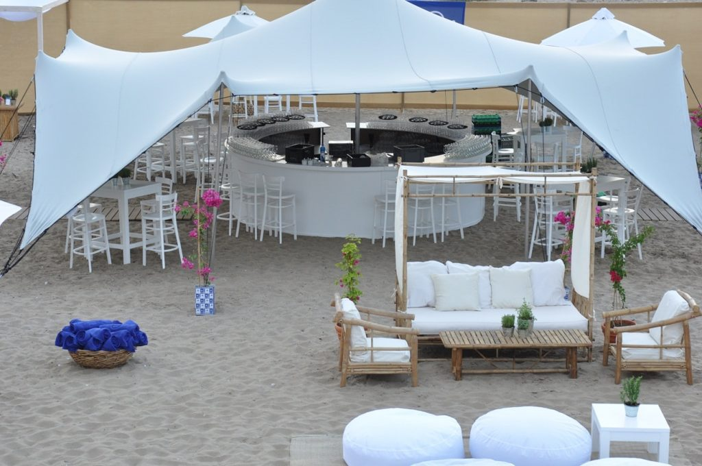 beach wedding party chairs
