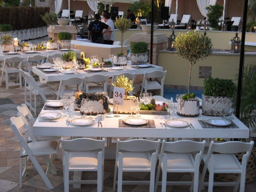 summer island wedding furniture