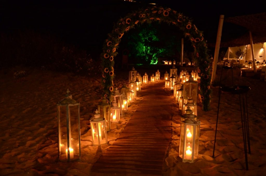 arch wedding venue decoration