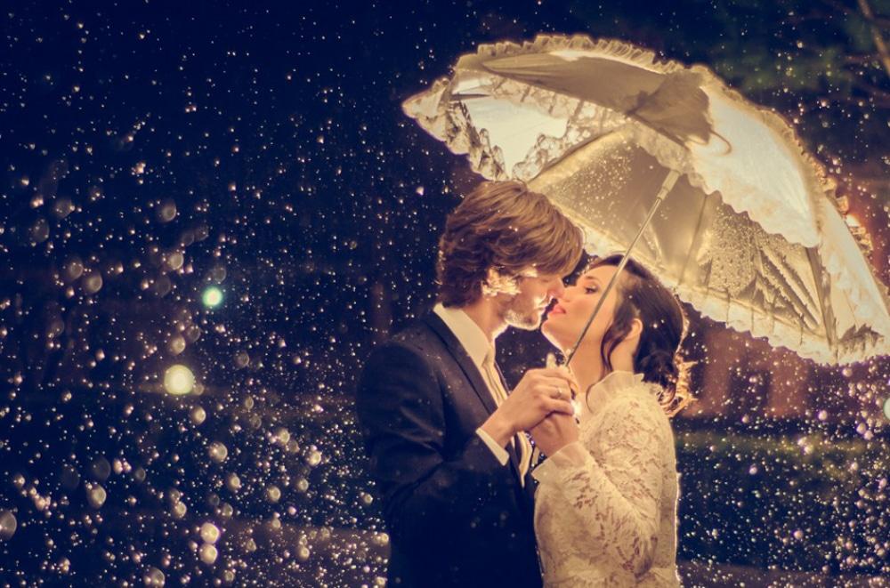 Φωτογράφιση γάμου στη βροχή