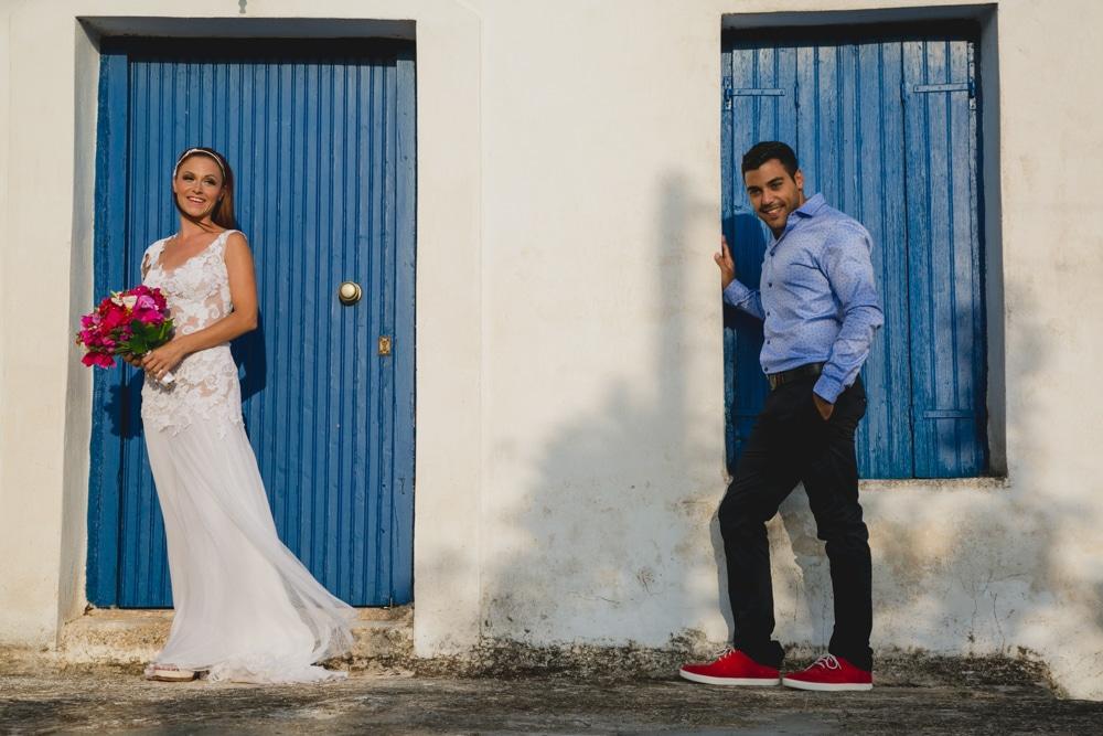Φωτογράφιση νύφης και γαμπρού