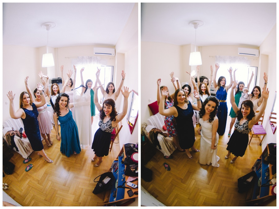 Bride's preparation with her friends
