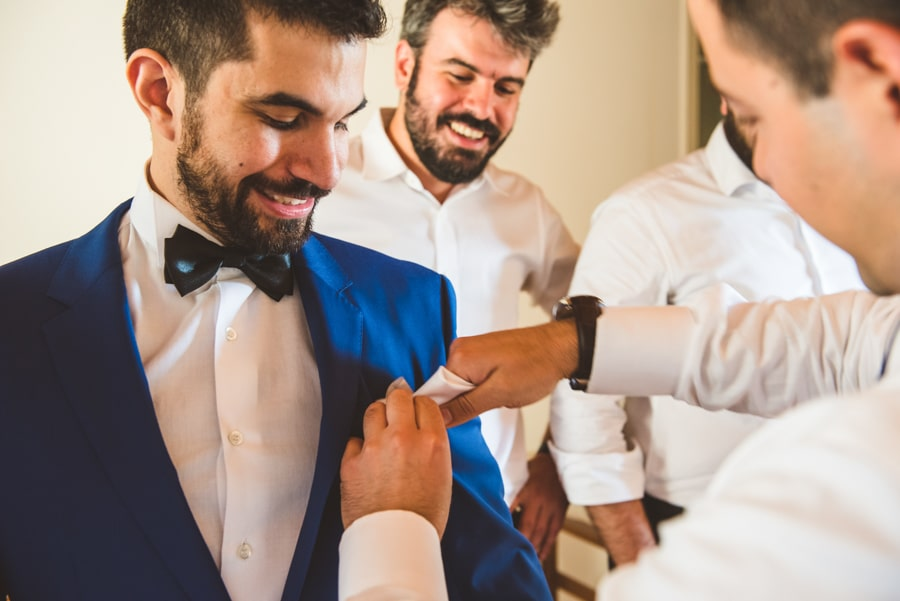 Groom's preparation
