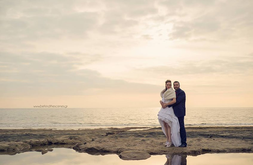 Day after wedding photoshoot by the sea