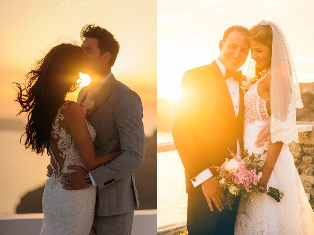 Φωτογράφιση γάμου στη δύση του ηλίου