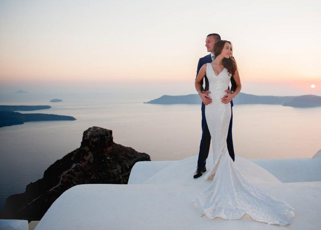 Γάμος στη σαντορίνη