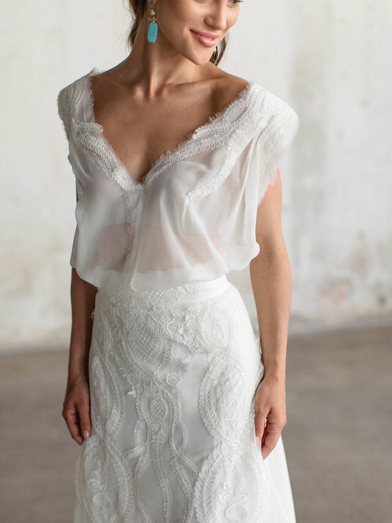 aetherial wedding dress