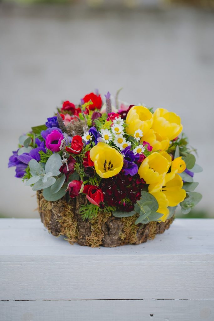 spring wedding flower decoration