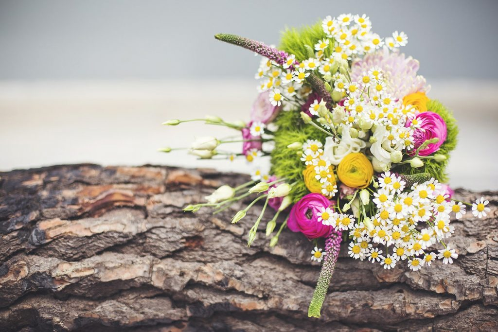 colorful wedding centerpiece secret garden