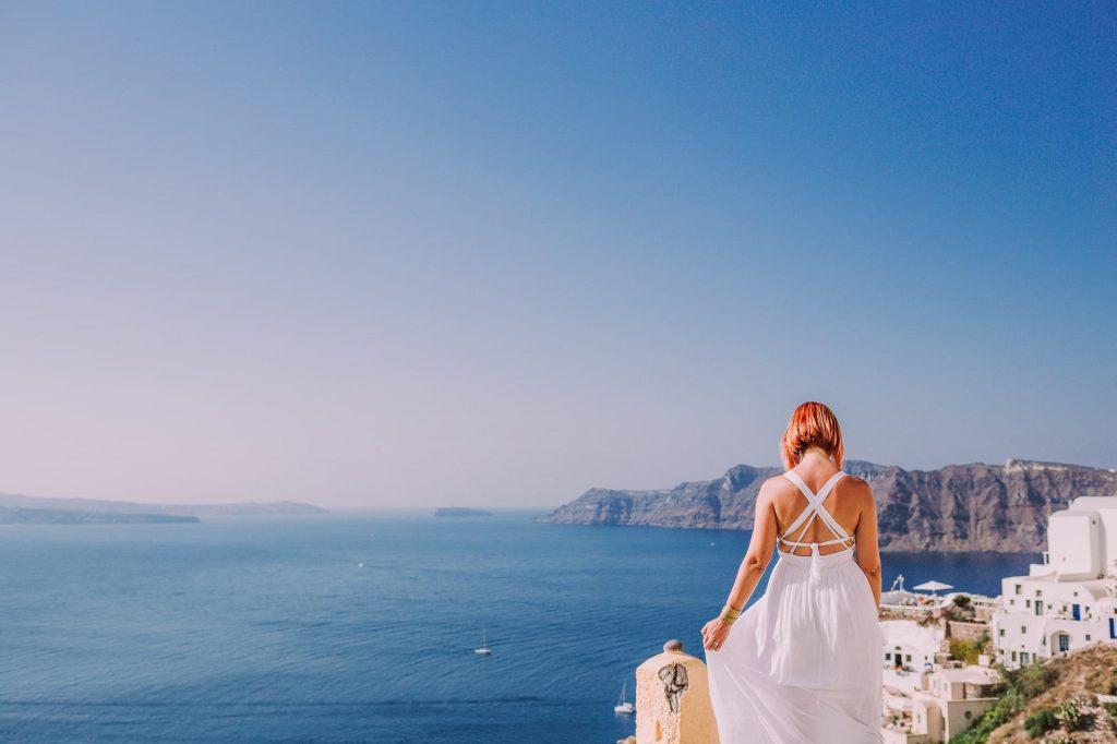 φωτογράφιση νύφης σε νησί
