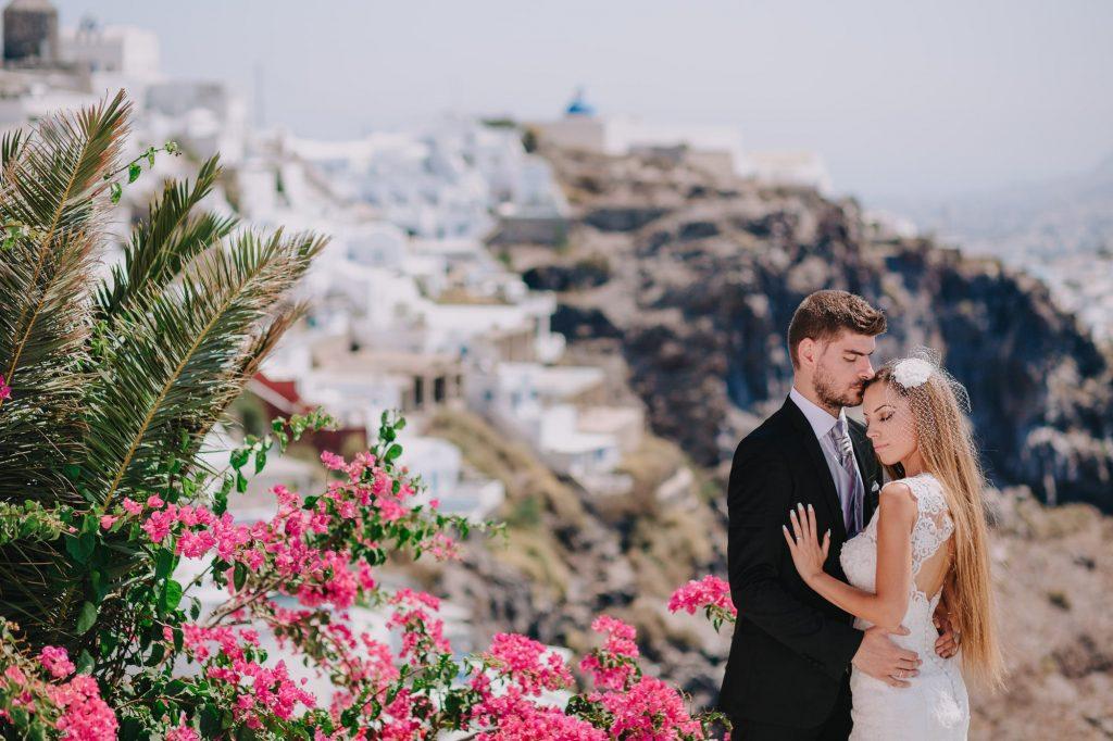 καλοκαιρινή φωτογράφιση γάμου σε νησί