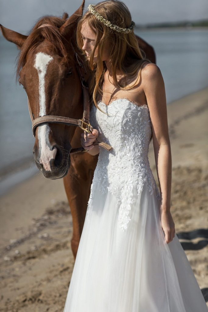Romantic wedding dress Christos Costarellos