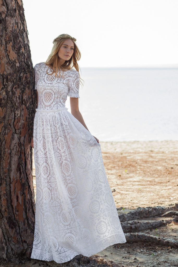 lace Romantic wedding dress Christos Costarellos