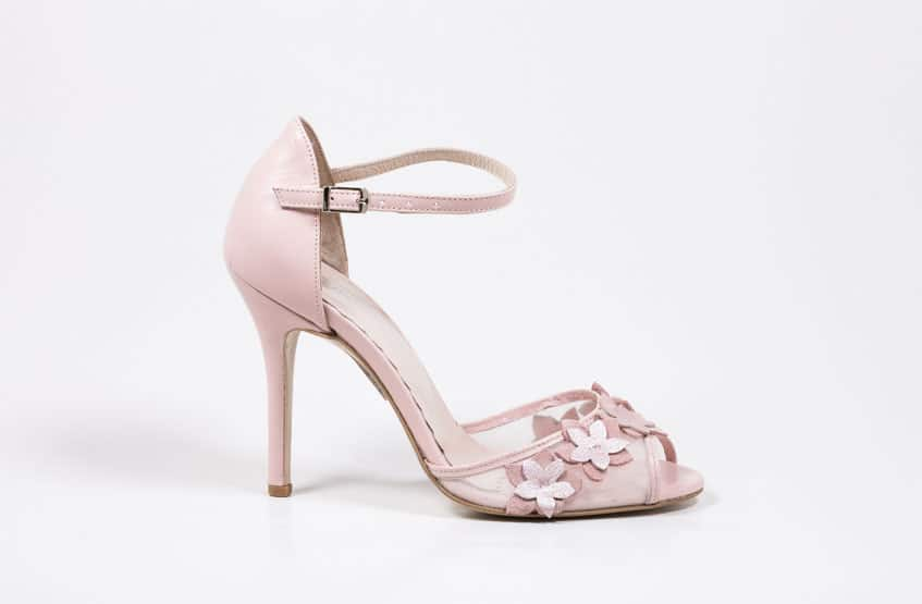 pink high heels with flowers