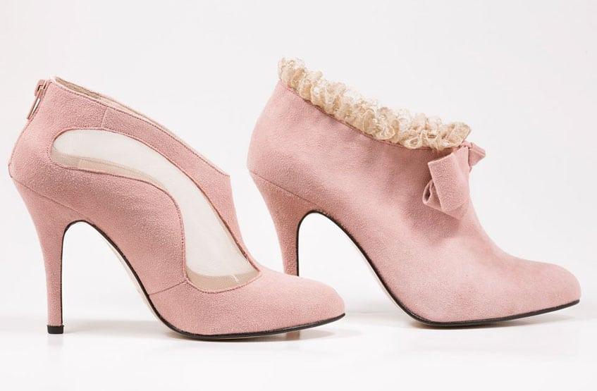nude Νυφικά παπούτσια Sideris