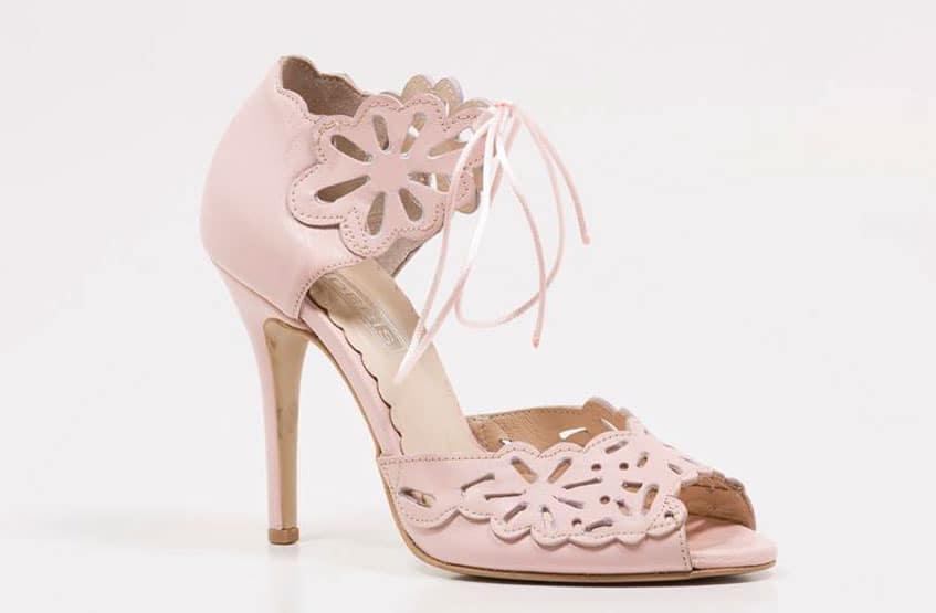 ροζ παπούτσια γάμου