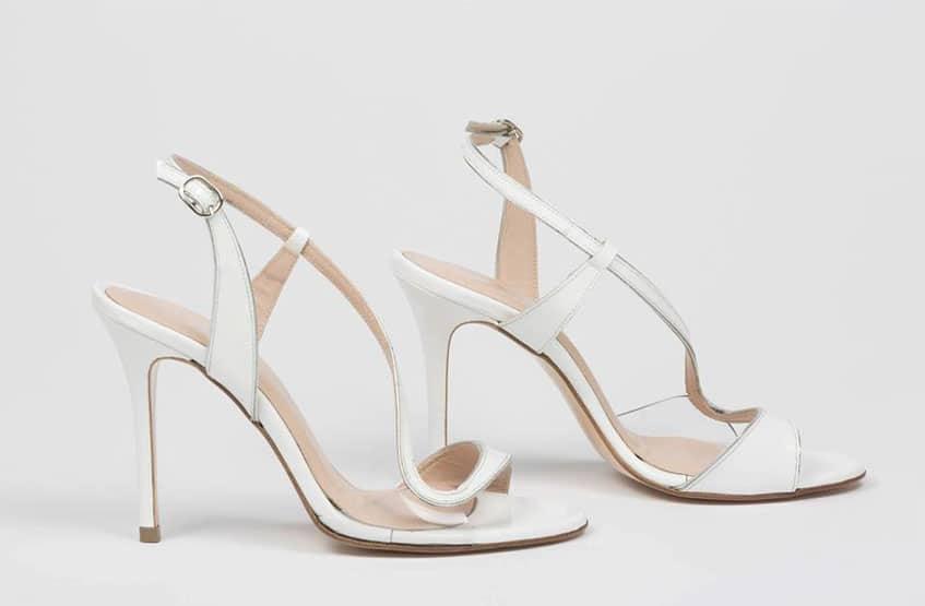 1bae12391e7 λευκά πέδιλα sideris. χρυσά πέδιλα sideris. παπούτσια γάμου. Νυφικά  παπούτσια Sideris