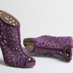purple ankle boots sideris