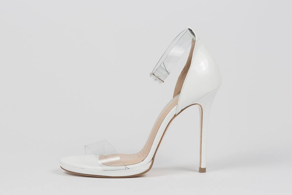 white bridal sandals sideris