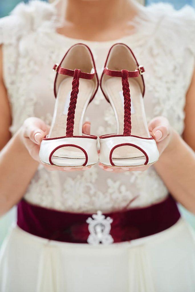 κόκκινα παπούτσια γάμου femme fanatique