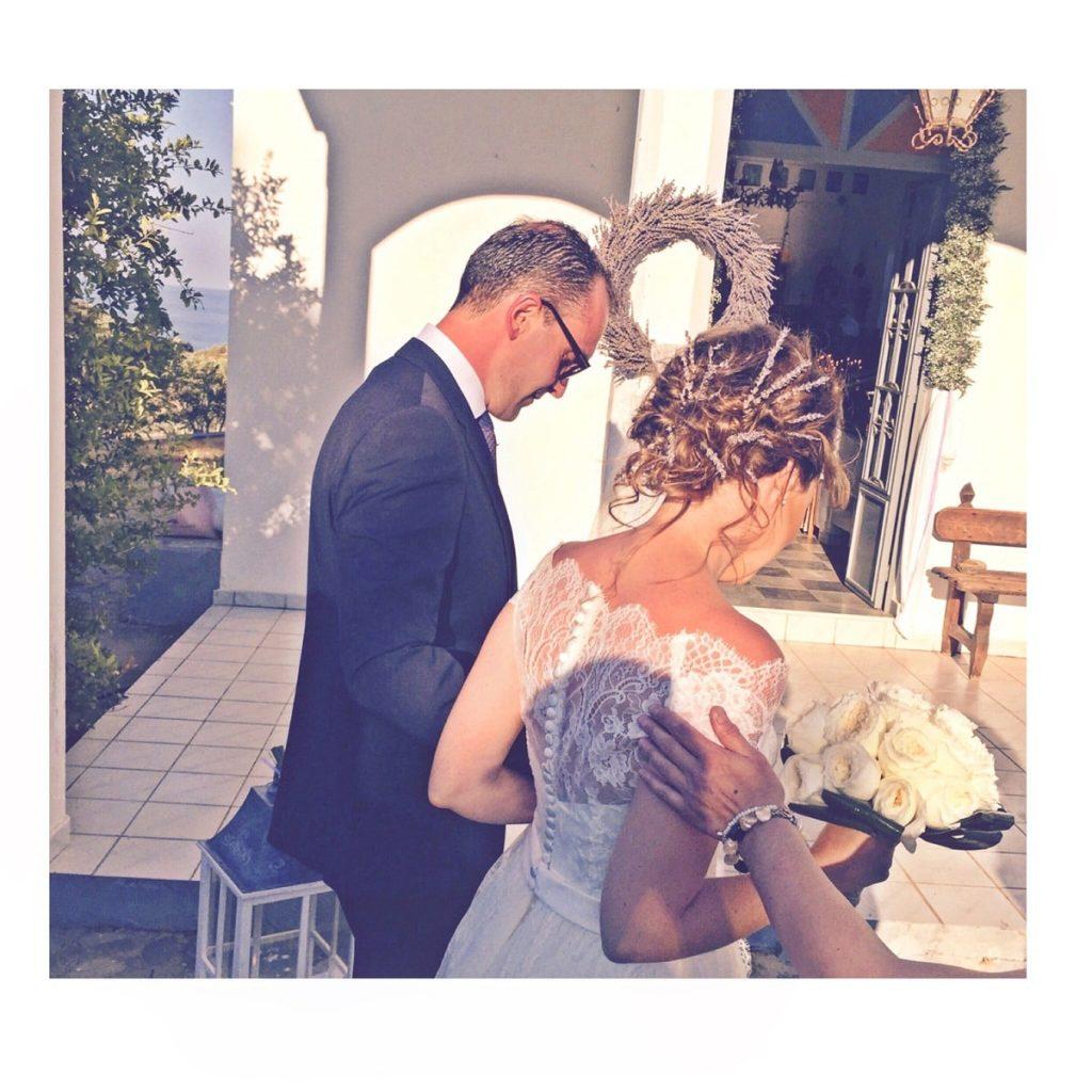 bride's hair up do