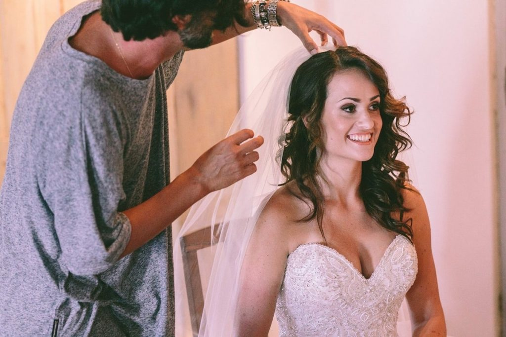 Wedding hair and bridal make up by George Marascas