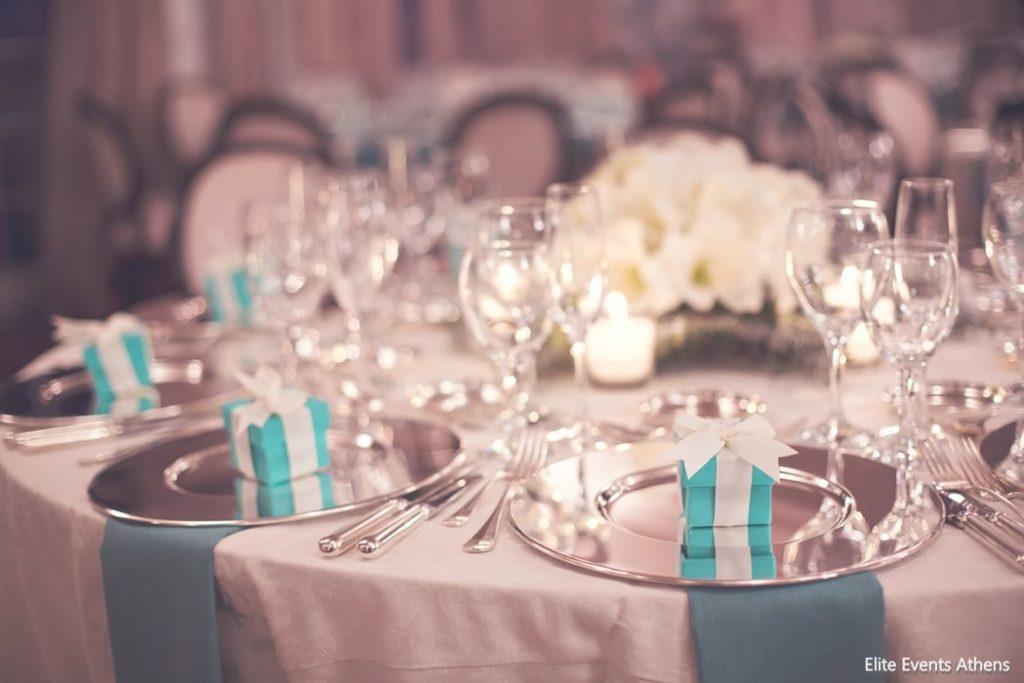 γαλάζιος tiffany blue στολισμός γάμου elite events athens