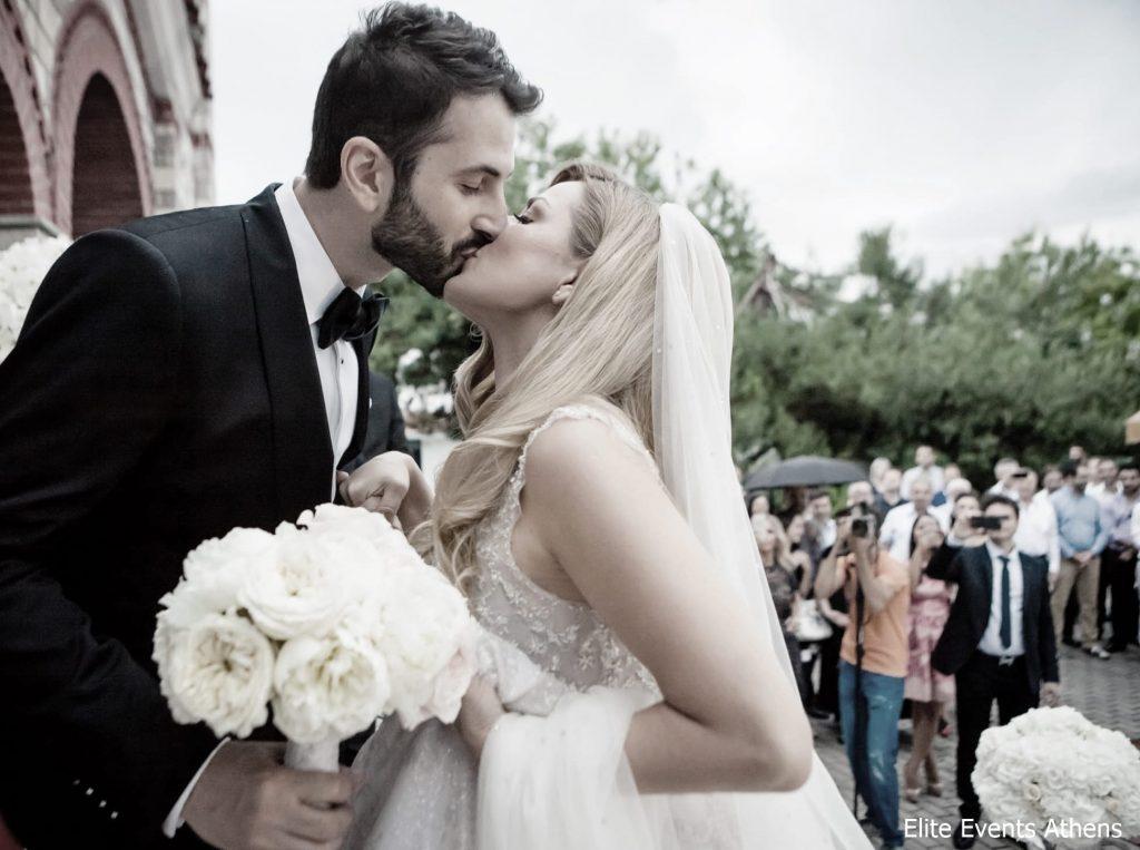 οργάνωση chic λευκού γάμου elite events santorini