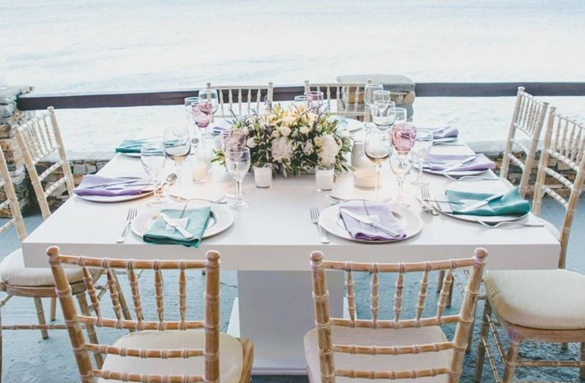 island wedding decoration